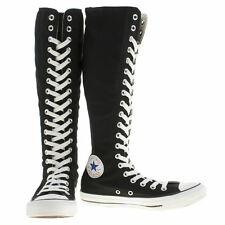 Mujer Converse All Star Blanco y Negro XXL Hi Zapatillas Size UK 3,4,5,6,7,8