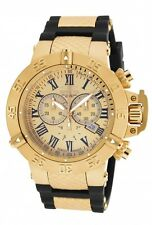 New Men's Invicta 16875 Subaqua Swiss Chrono Gold Tone Dial Black Poly Watch