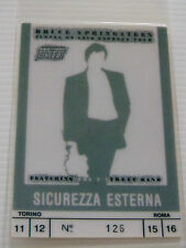 BRUCE SPRINGSTEEN Laminated DRIVER Backstage Tour Pass - TUNNEL OF LOVE EXPRESS