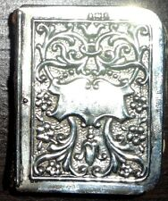 ANTIQUE MINIATURE HALLMARKED SILVER & RED LEATHER BOOK OF COMMON PRAYER, c1900