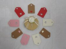 15 Small Gift Tags with optional Heart detail designs -100% Recycled Card