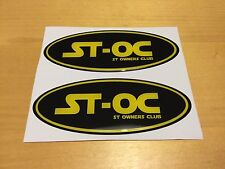 Ford Fiesta ST MK7 Focus ST MK3.5 ST-OC Gel Overlay  Badges Black and Yellow