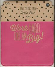 "New Next The Gift Co. 'Work Hard Dream Big!' Pink Case for 10"" Tablet Computers"