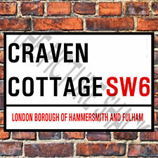FULHAM STREET SIGN ON A TEA/COFFEE COASTER. CRAVEN COTTAGE  9cm X 9cm