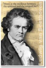 Ludwig van Beethoven - Music is the Mediator...  NEW Band Musician POSTER