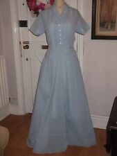 VINTAGE 1950'S NYLON DRESS, LONG, WITH SEPARATE UNDERSKIRT