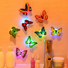 Creative Colors Changing ABS Butterfly LED Night Light Lamp Home Room Wall Decor