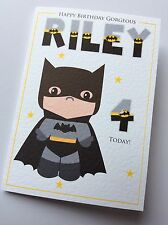 Handmade Personalised Batman Superhero Birthday Card (Son Nephew Cousin Brother)