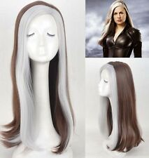 X-Men Rogue Wig Mix Color long Anime Wig Cosplay Wig Heat Resistant for women