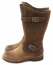 Patagonia Women's Tin Shed Rider Mid Calf Boot Thatcher Brown Leather Size 7 M