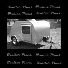 Rare 5' x 10' Teardrop Camp Trailer Plans, Instructions & Materials List.