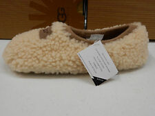 UGG WOMENS SLIPPERS BIRCHE NATURAL SIZE 8