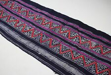 Vintage Hemp Hmong Traditional Fabric: Table Runner or Project supply 25503