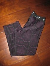 PHEEL Crop Pants Black w/Purple Design size S - Yoga/Running/Gym Spin - Nice !!!