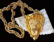 "Razza Signature Large 4""Lion Head Pendant & Necklace-Awesome collectable -Wow!!!"