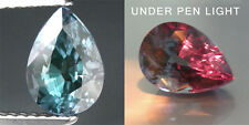 1.18cts. RARE NATURAL CROWN COLOR CHANGE ALEXANDRITE PEAR LOOSE GEMSTONE