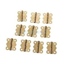10pcs Brass Color Mini Butterfly Hinges Cabinet Drawer Jewelry Box DIY Repair