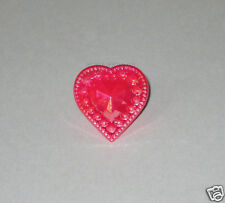 12 Iridescent Red Heart Cup Cake Rings Topper Valentines Party Bag Favor Supply