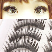 10 Paare falsche künstliche Augen Wimpern Make up False Thick Eyelashes #113