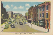 Main Street MONCTON New Brunswick Canada 1930-40s PECO Postcard C.N.R. Photo