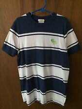 Abercrombie & Fitch Kids Boys Striped Blue White Muscle Large L Polo Shirt