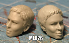 "ML026 Custom Cast Sculpt Female head cast for use with 6"" 7"" action figures"