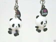 PACK OF 2 CUTE PANDA MOBILE PHONE CHARMS/phone charms/Keychain/bag charm/gift