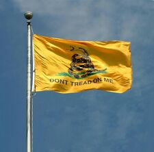 Tea Party Gadsden Don't Tread on Me Flag 3x5 3' x 5' Super Poly Banner
