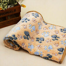 Soft Warm Coral Fleece Pet Blanket Bath Towel Dogs Cats beds mat Brown 80*60cm