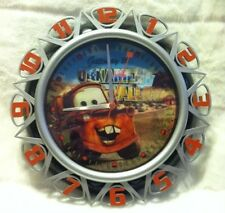 Disney Cars 3D Lightning McQueen Mater Picture Changing Wall Clock