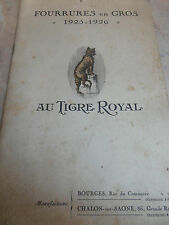 catalogue de fourrures au tigre royal 1925