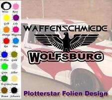 Waffenschmiede Wolfsburg nr2 Iron Cross Sticker Aufkleber Fun Geil Like Tuning