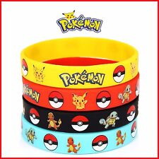 4pcs Pokemon Go Pikach Wristband Silicone Bracelet Party Gifts Bangle Kids Toy