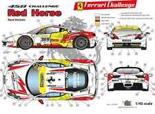 "[FFSMC Productions] Decals 1/43 Ferrari F-458 Challenge ""Red Horse"" (for Races)"