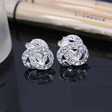Ladies Womens Elegant Crystal Earrings Ear Stud exquisite Wedding Ear Ring Gift
