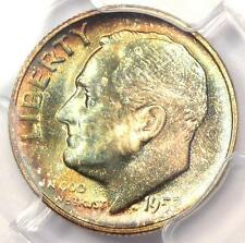 1952-S Roosevelt Dime 10C Coin. Certified Pcgs Ms67+ Fb Plus Grade - $1100 Value