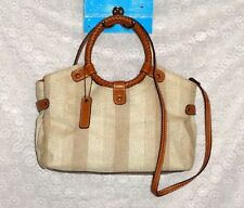 RELIC ~ FOSSIL Leather Woven Hand Bag Purse Satchel Messenger Style Strap