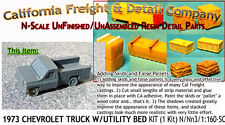 1973 CHEVY PICKUP W/UTILITY BED KIT (1kit) N/1:160-Scale California Freight NEW!