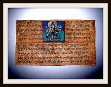 Tibetische Handschrift-Miniatur-Malerei,Buddhismus,Handkoloriert, RAR