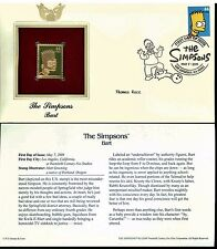 The Simpsons Cover Postal Commemorative Society Proof Replica Stamp 22k Gold  2