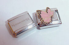 PINK BUTTERFLY 9mm Italian Charm + 1x Genuine Nomination Classic Link JUNE N9