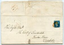 "1841 ""Weekly Return by the Steward at Thirlstane Castle"" with 1840 2d blue Pl.1"
