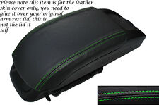 GREEN STITCH LEATHER ARMREST SKIN COVER FITS VAUXHALL OPEL ZAFIRA C 2012-2014
