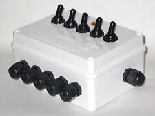 5 WAY OUTDOOR SWITCH BOX- KOI FISH PONDS/LIGHTS/FILTER