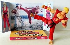 STREET FIGHTER Movie Game Martial Arts Action Figure KEN on Custom Display Stand