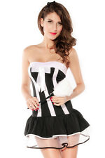 Maid Black White Steamy Adult Costume Halloween One Size Fits Most 8107