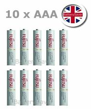 10 x Fujitsu WHITE (AAA) low self discharge NiMH rechargeable batteries (750mAh)