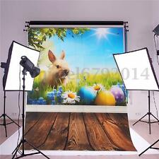1.5x1M Toile de Fond Backdrop Photographie Studio Photo Prop Lapin Pâques Fleur