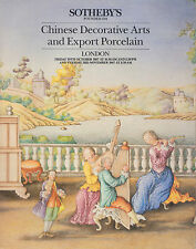 CHINESE DECORATIVE ARTS & EXPORT PORCELAIN SOTHEBY'S AUCTION CATALOGUE