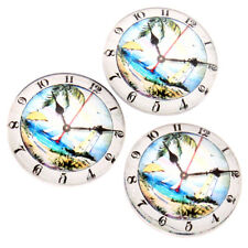 20pcs New Sale Charms Round Sea Scenery Clock Patterns Glass Embellishments LC